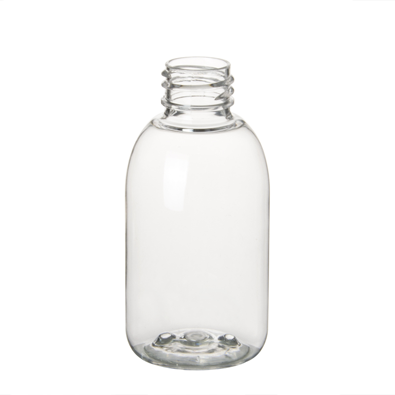 60ml 2oz Clear Plastic PET Boston Round Bottles