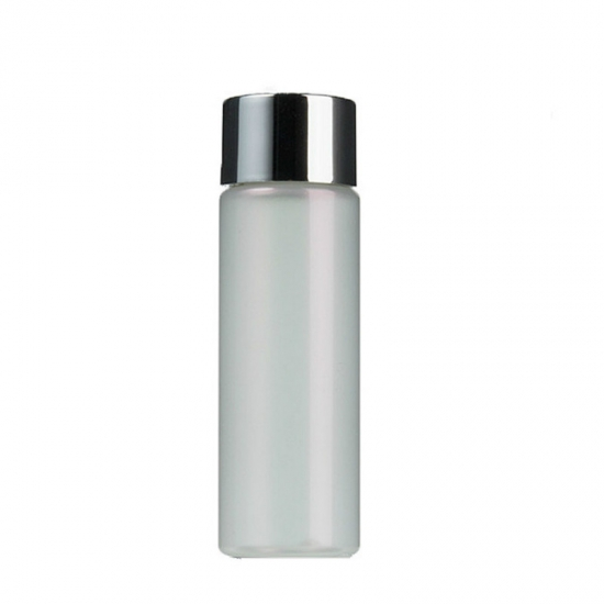 30ml 1oz ET frosted translucent cylinder toner bottles with silver screw caps