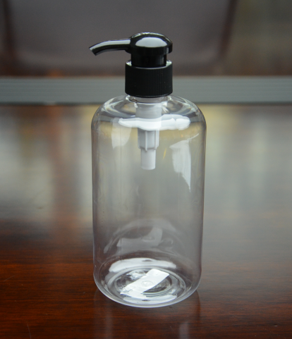 400ml empty Boston pet pump bottle